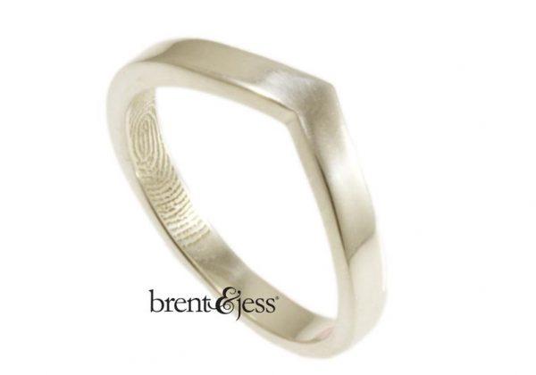 v-shaped Brent&Jess ring