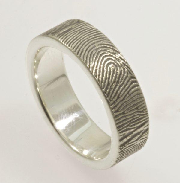 Exterior Wrap fingerprint ring by Brent&jess