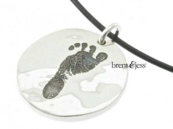Handmade Baby's Footprint Keepsake Necklace
