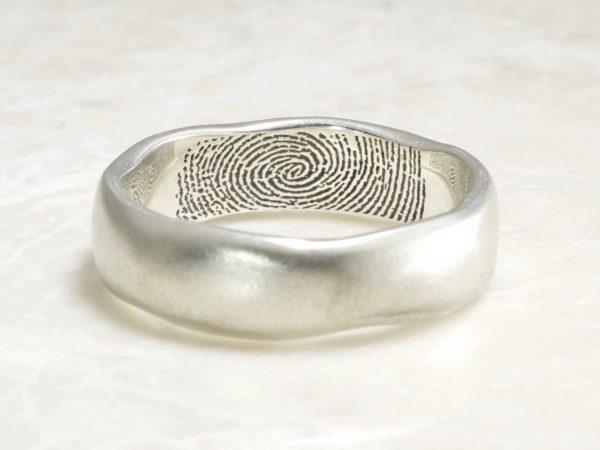 organic Brent&jess ring with interior fingerprint