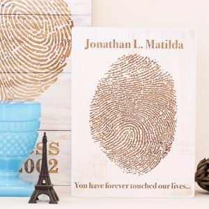 Memorial fingerprint artwork 5x7