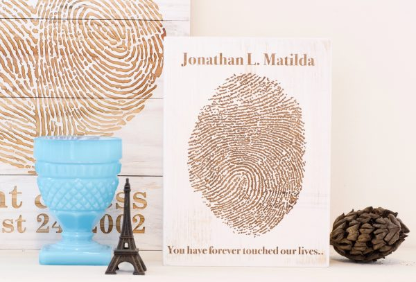 Memorial fingerprint artwork 5x7