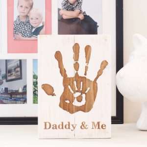 Daddy and me custom Wood art