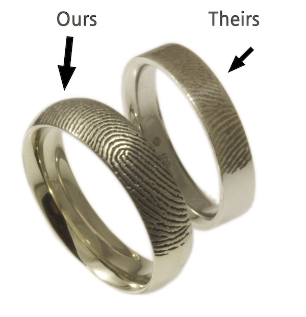 Brent&Jess's ring vs a competitors ring