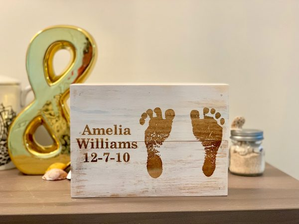 Custom Childs Footprint Wall Art