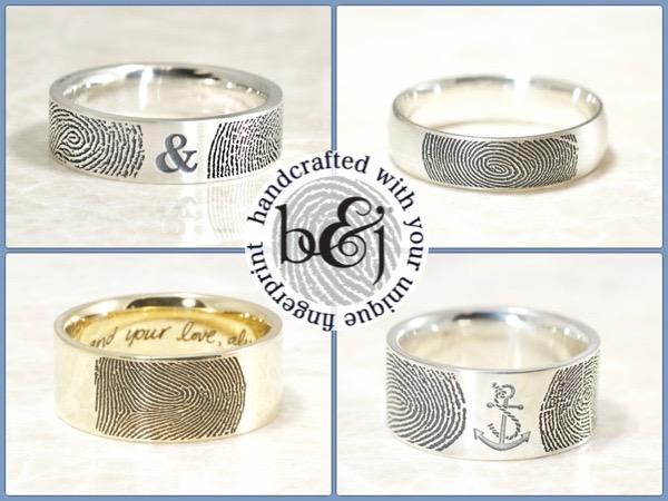 Brent&Jess Fingerprint rings