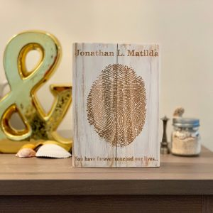 Custom Memorial Fingerprint Wall Art
