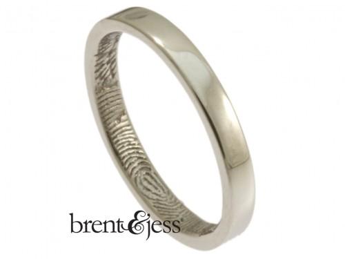 Platinum fingerprint wedding ring by Brent&Jess