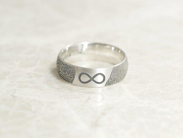 6mm infinity fingerprint ring