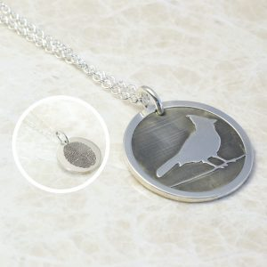 Cardinal memorial necklace