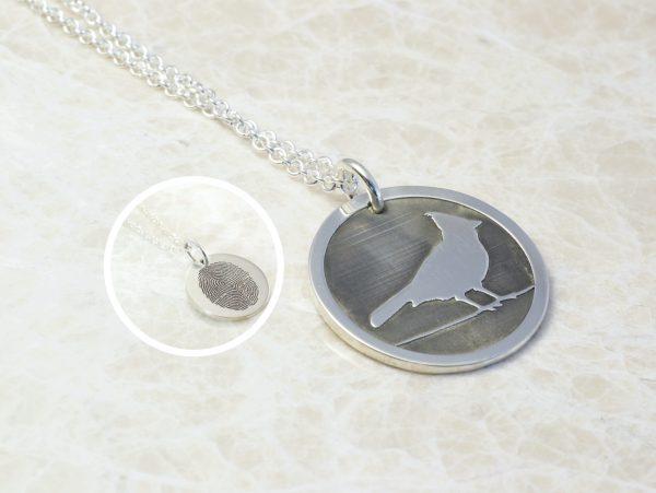 Cardinal memorial necklace