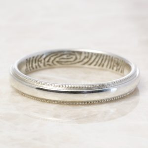 Sterling milgrain low dome band